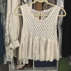 Free people lace top Worn once Free People Tops Blouses