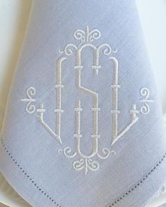 Bamboo Monogram Embroidery Font