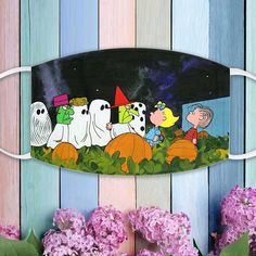 Charlie Brown Thanksgiving Snoopy And Friends Peanuts Woodstock Lovers Face Mask