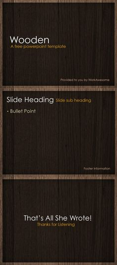 Free PowerPoint Template   Wooden
