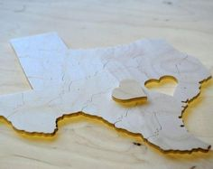 Sculpted Puzzle Wedding Guest Book, 30 Pieces, Free Personalization by Double Trouble Jigsaw Puzzles | Hatch.co