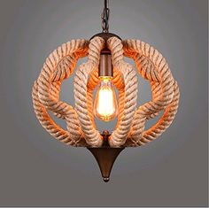 price error - SUNSHINEGORustic Industrial Retro Vintage Ceiling Light Pumpkin Rope Ceiling Pendant Shade hanging Fixture Lamp Home Decor Without Bulb *** Continue to the product at the image link. (This is an affiliate link) #LightingCeilingFans
