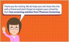Free online vision screening system for schools