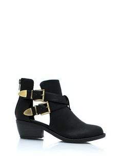 Keep-'Em-Perforated-Booties BLACK TAUPE - GoJane.com