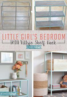 Big Girl Room, IKEA Vittsjo hack- Mint Bookshelf | A Shade Of Teal