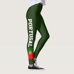 Portugal flag leggings for sport fitness yoga  $59.95  by iprint  - custom gift idea