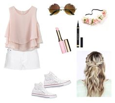 Maddie Ziegler by delaneypinion on Polyvore featuring polyvore, fashion, style, Chicwish, STELLA McCARTNEY, Converse, Clarins and clothing