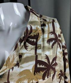 c3acc8f07e 6XL Brown Palm Trees Hawaiian Aloha Casual Friday Shirt Harbor Bay | eBay  Harbor Bay,