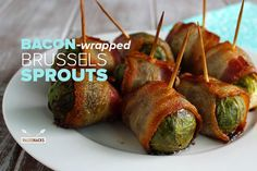 Think hearty Brussels sprouts wrapped in salty bacon deliciousness.