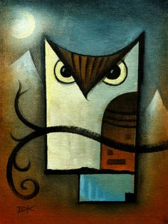 'Owl Under the Moon' by David King