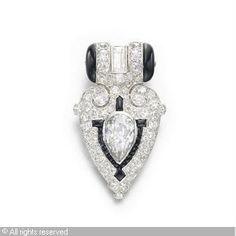 Cartier Art Deco Dress Clip 1925