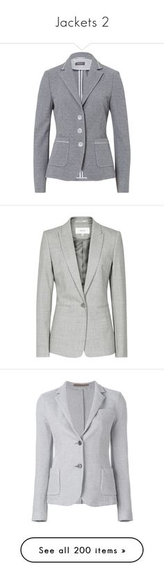 """""""Jackets 2"""" by ashlozuk333 ❤ liked on Polyvore featuring outerwear, jackets, blazers, grey, flannel jacket, gray blazer, gucci blazer, grey blazer, blazer jacket and women"""