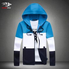 Mens Striped Casual Cotton Hoodie