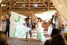 Breakaway just married sign for reception enterance. Photo from Taryn + Dan collection by Jordan DeNike Photography