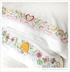 crewel embroidery patterns Sublime Stitching - New Embroidery Patterns SUBLIME BORDERS - Our biggest, most ambitious, highly-detailed, MULTI-THEMED pattern sheet yet! Embroidery Designs, Crewel Embroidery Kits, Embroidery Needles, Learn Embroidery, Cross Stitch Embroidery, Machine Embroidery, Handkerchief Embroidery, Embroidery Tattoo, Embroidered Pillowcases