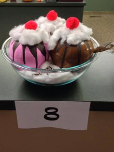 Ice Cream Sundae! No Carve Pumpkin! Painted Pumpkin! Decorated Pumpkin! Pumpkin Contest!