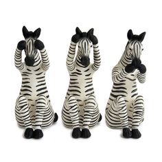 Zulu Zebra Figurines - Bed Bath & Beyond