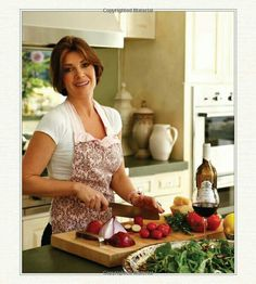 Lisa Vanderpump at home in the kitchen. She loves cooking.