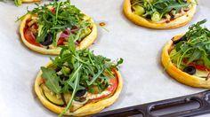 Mini Vegetarian Puff Pastry Pizzas Recipe | HappyFoods https://www.youtube.com/watch?v=tKXDOmAXFEE&list=UUkmkNfAUW2KHRcxoxaDmmog #mini #pizzas #video