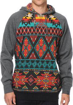 6b943ad0aa9a Dravus Sound Aztec Hoodie at Zumiez   PDP Kangaroo Pouch, Men s Hoodies,  Hooded Sweatshirts