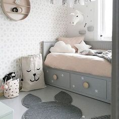 "46 Me gusta, 3 comentarios - Sweet Fin Studio (@sweetfinstudio) en Instagram: ""Great inspiration for a mostly neutral girls room that is full of whimsy. : @camillaathena…"""