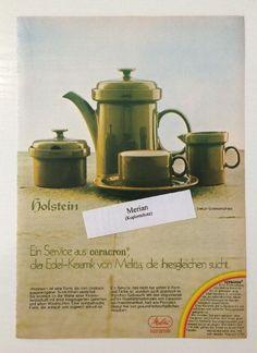 """Werbung Melitta """"Holstein"""", Ceracron, Keramik, 1975"""