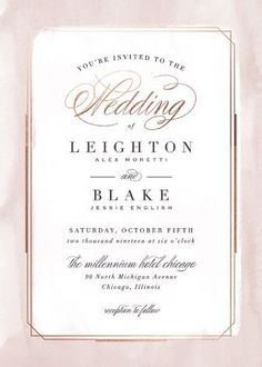 Elegant Foil-pressed watercolor Wedding Invitations in Mauve. Click to see more colors and 30+ water color wedding invites: http://www.confettidaydreams.com/watercolor-wedding-invitations/