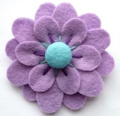 lovely • Lupine handmade brooch. I think a pretty button would look good in the center.