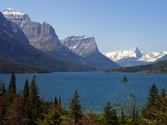 The most beautiful place in the world.  Hands down.  Wild Goose Island in St. Mary's Lake on Going to the Sun Highway, Glacier National Park, Montana.