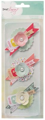 American Crafts Dear Lizzy - Neapolitan Ephemera Ticket Flowers