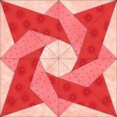 Paper Pieced Birthday Star Quilt Block