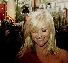 Reese Witherspoon Side Swept Bangs: Long
