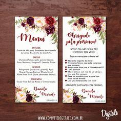 Digital Art convites e arte digital Wedding Cards, Our Wedding, Dream Wedding, Invitation Cards, Wedding Invitations, Twin Birth Announcements, Watercolor Flower Background, Pin Up Style, Wedding Details