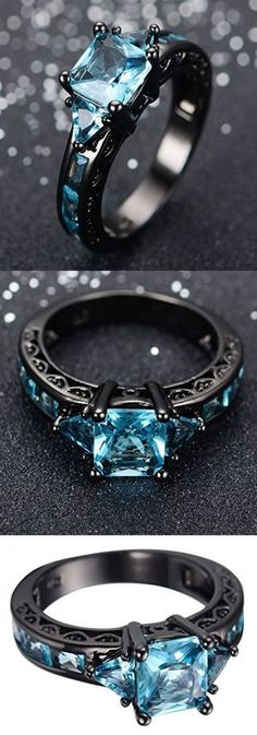 Awesome & Unique Goth / Gothic / steam punk Wedding / Anniversaries & Engagement Rings Set Ideas / Inspiration for Men / Her made in Black Gold, Gothic Engagement Ring, Engagement Ring Settings, Vintage Engagement Rings, Oval Engagement, Black Gold Engagement Rings, Engagement Jewellery, Engagement Ring For Her, Engagement Bands, Wedding Engagement