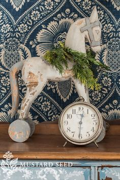 Painted rocking horse for Christmas from Miss Mustard Seed