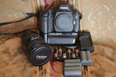 Canon EOS 5D 12.8MP Camera With 24-105L glass Battery Grip Batteries and more!