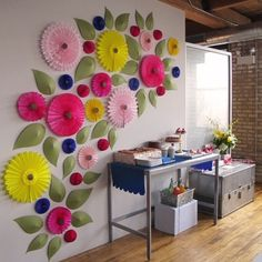 The most impressive flower walls mural sticker 1