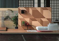 Revestimento de pisos/paredes de grés porcelânico TIERRAS INDUSTRIAL TRIO MIX Coleção TIERRAS by MUTINA | design Patricia Urquiola