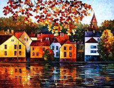 Ciudad de otoño donde crecí Home Decor por AfremovArtStudio