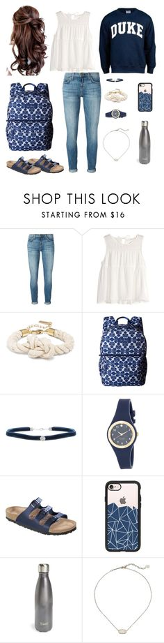 """Duke Tip"" by mirandamf on Polyvore featuring Current/Elliott, H&M, Vera Bradley, Bliss, Kate Spade, Birkenstock, Casetify, S'well and Kendra Scott"