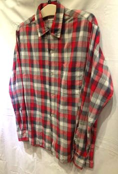 50's Sandy Mac Donald Plaid Shirt