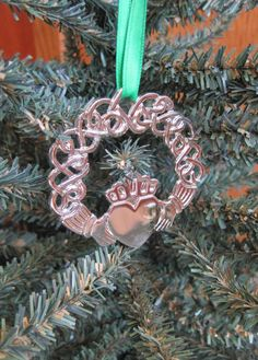 Details Celtic Claddagh Wreath Ornament: 2 x 2 - Comes with Velvet Pouch and Ribbon - Awesome Gift! Christmas In Ireland, Irish Christmas, Christmas Time, Christmas Wreaths, Ornament Wreath, Ornaments, Irish American, Irish Blessing, Claddagh