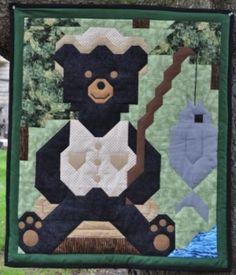 Modèle de couette ours pêche par SewCuteQuilting sur Etsy, $10.00