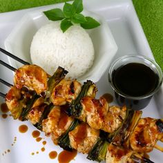 Japanese Grilled Chicken Yakitori with Tare Sauce