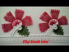 Needle and Crochet Handle Towel Edge Model - Harika El işleri-Hobiler Crochet Lace Edging, Knit Crochet, Crochet Hats, Crochet Handles, Easy Model, Needle Lace, Inspiration For Kids, Knitted Shawls, Knitting Socks