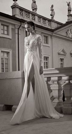 2017 Summer Sexy Wedding Dresses Sheer Plunging V-neck Long Sleeves Bridal Formal Gowns White Ivory Champagne Lace Bridal Wedding Gown - Sheer Wedding Dress, Sexy Wedding Dresses, Bridal Dresses, Lace Wedding, Prom Dresses, Dress Prom, Dress Long, Dresses 2014, Wedding White