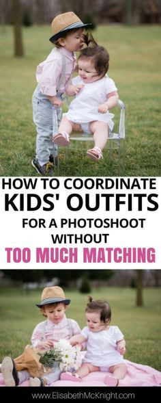wondering what your kids should wear to a family photoshoot or trying to coordinate outfits for a wedding? Try these tips to get babies' and toddlers' special occasion outfits coordinated without too much matching