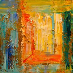 Paintings by Theresa Paden: Bright, Colorful Abstract Expressionistic Painting, Portal by Theresa Paden, SOLD