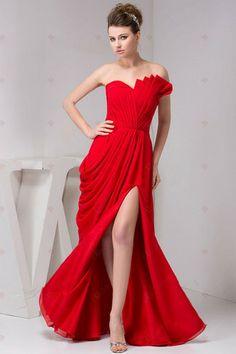 A-ligne bretelles plissées en mousseline de soie-parole longueur des robes de demoiselle d'honneur Zipper