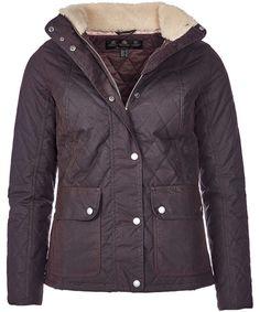 Women's Barbour Bartlett Quilted Wax Jacket - Rustic